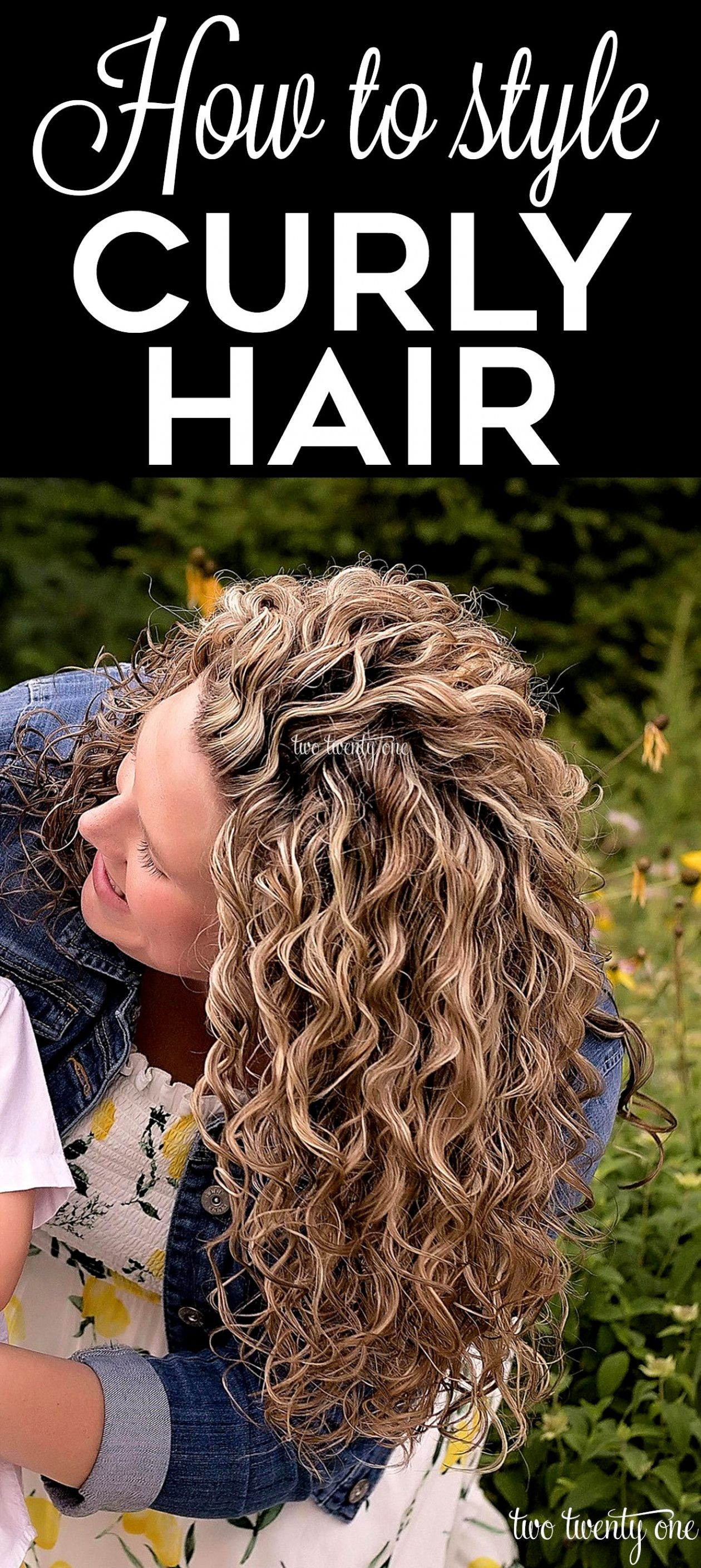 How to style curly hair! Step by step tutorial featuring