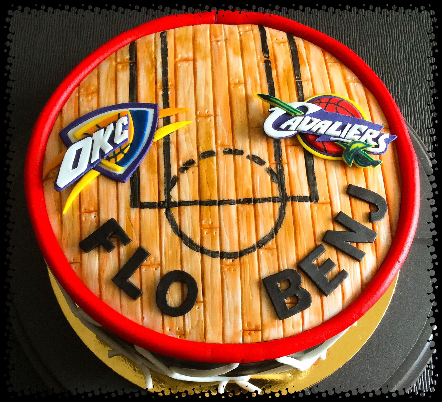 Cake Design Basketball NBA Theme : OKC Thunder Vs