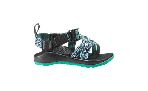 72ada10e7 Chaco Kids ZX 1 Sport sandal in blue and green pattern