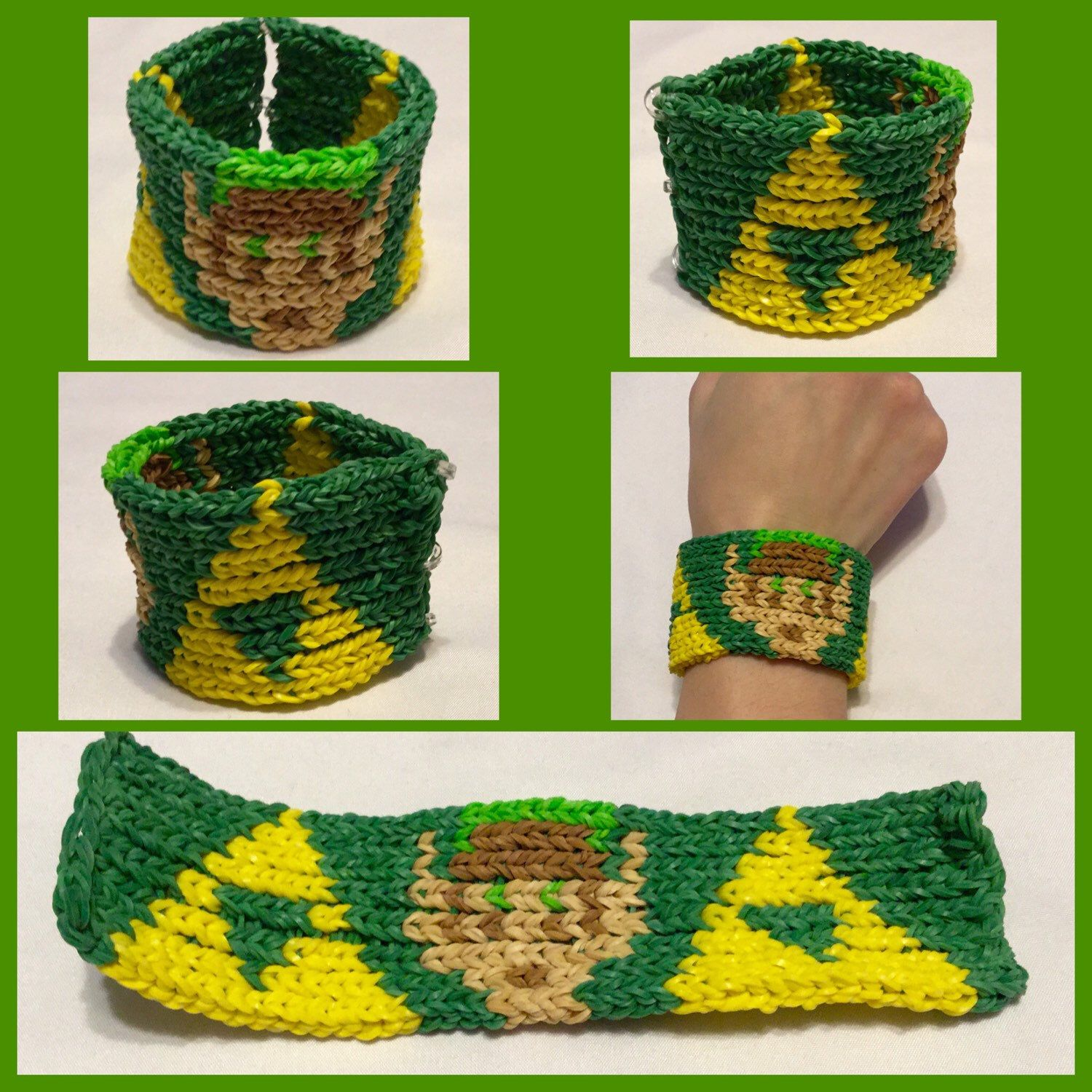 Triforce Link Bracelet By Thirdleafcreations On Etsy Https Www Rainbow Loom Diagram Etsycom Listing 215122930