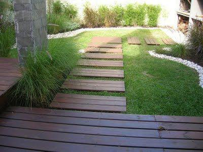 deck de madera para jardn
