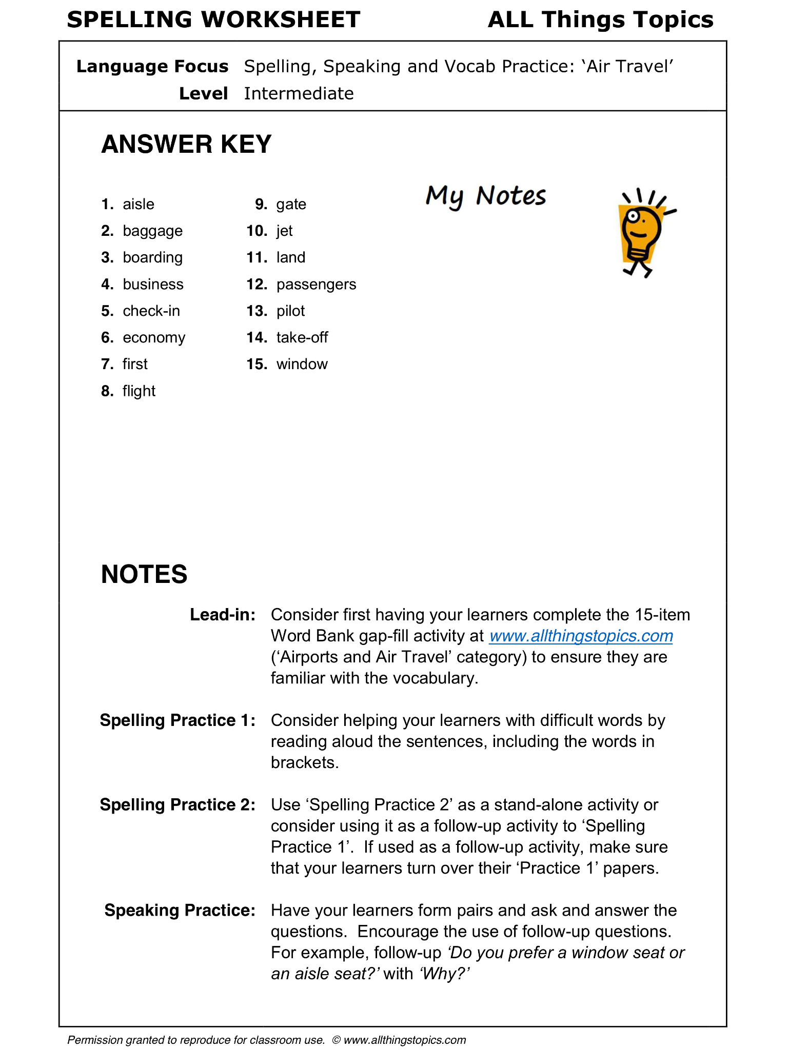 worksheet Learn English Worksheets spelling worksheet speaking and vocab practice places around airports air travel 1 2 english learning english
