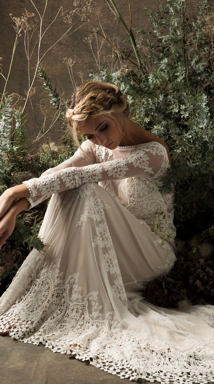 Aurora lace bohemian wedding dress styles pinterest wedding