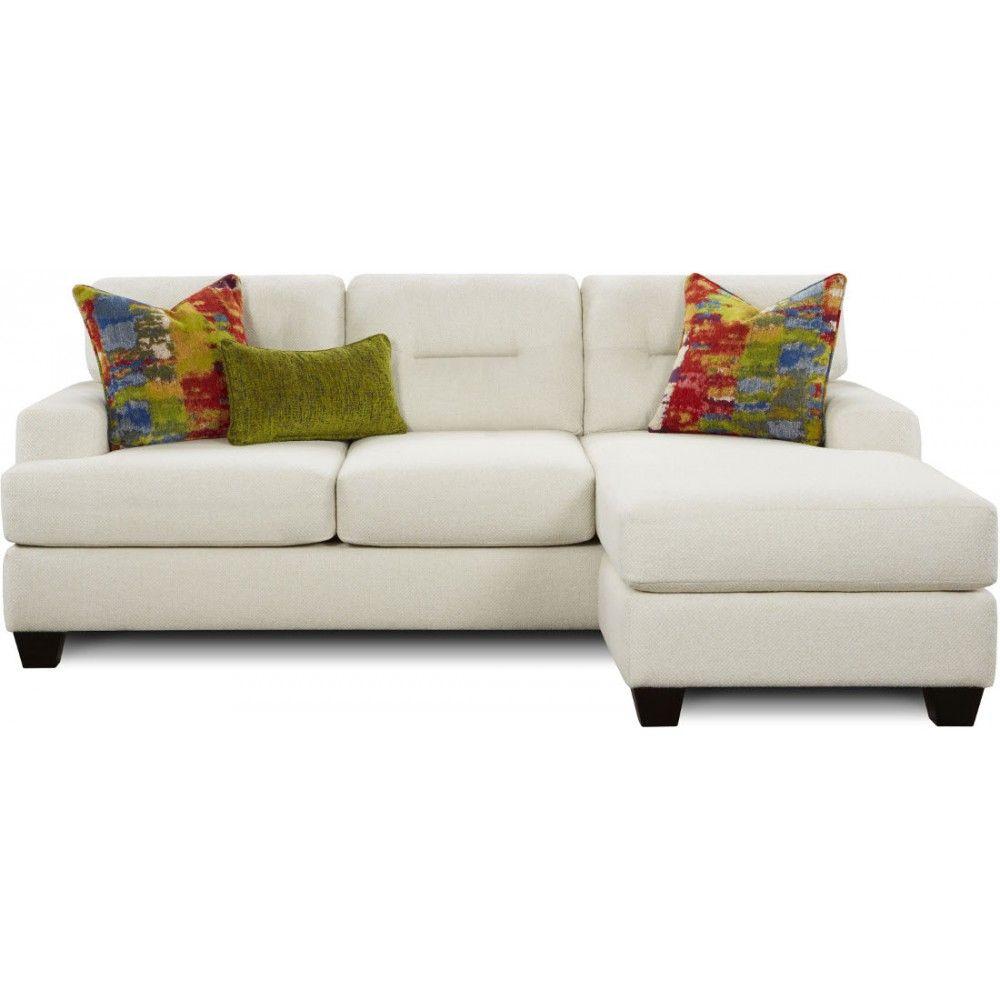 Fusion Furniture The 8558 Bomber Salt Sofa/Chaise | Space Saving ...