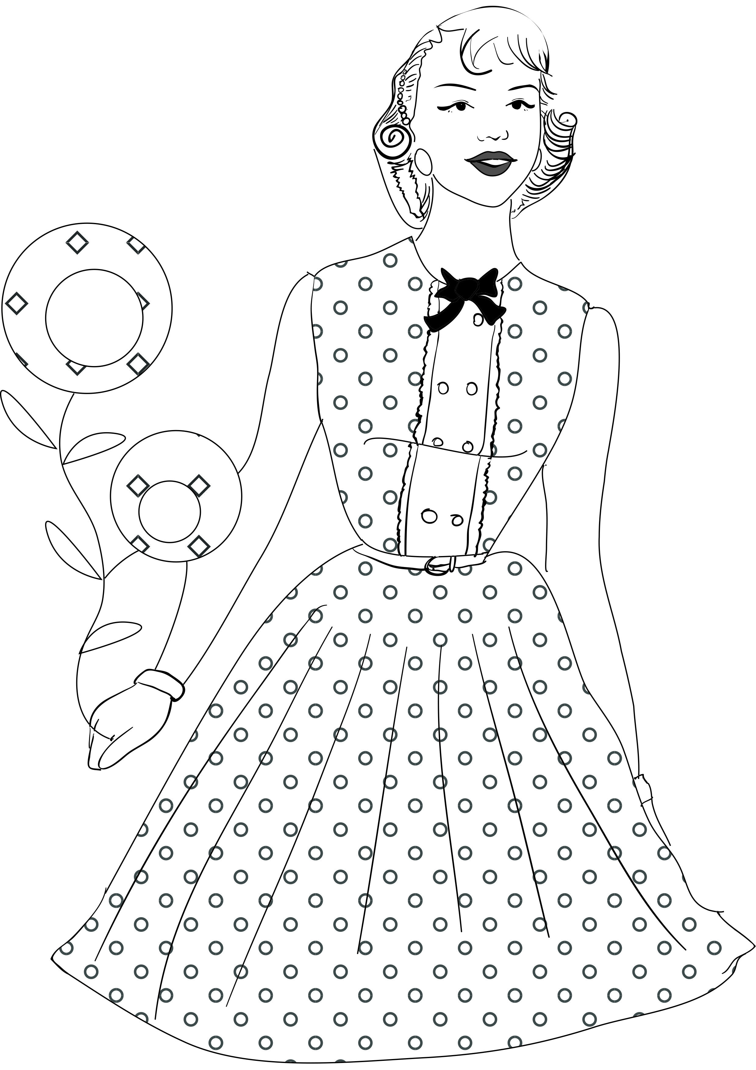 1950s coloring book fashion and style individuality books