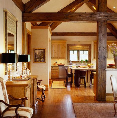 Comfort Plus Unexpected Style For A Rustic Mountain Home Traditional Home Mountain Houses