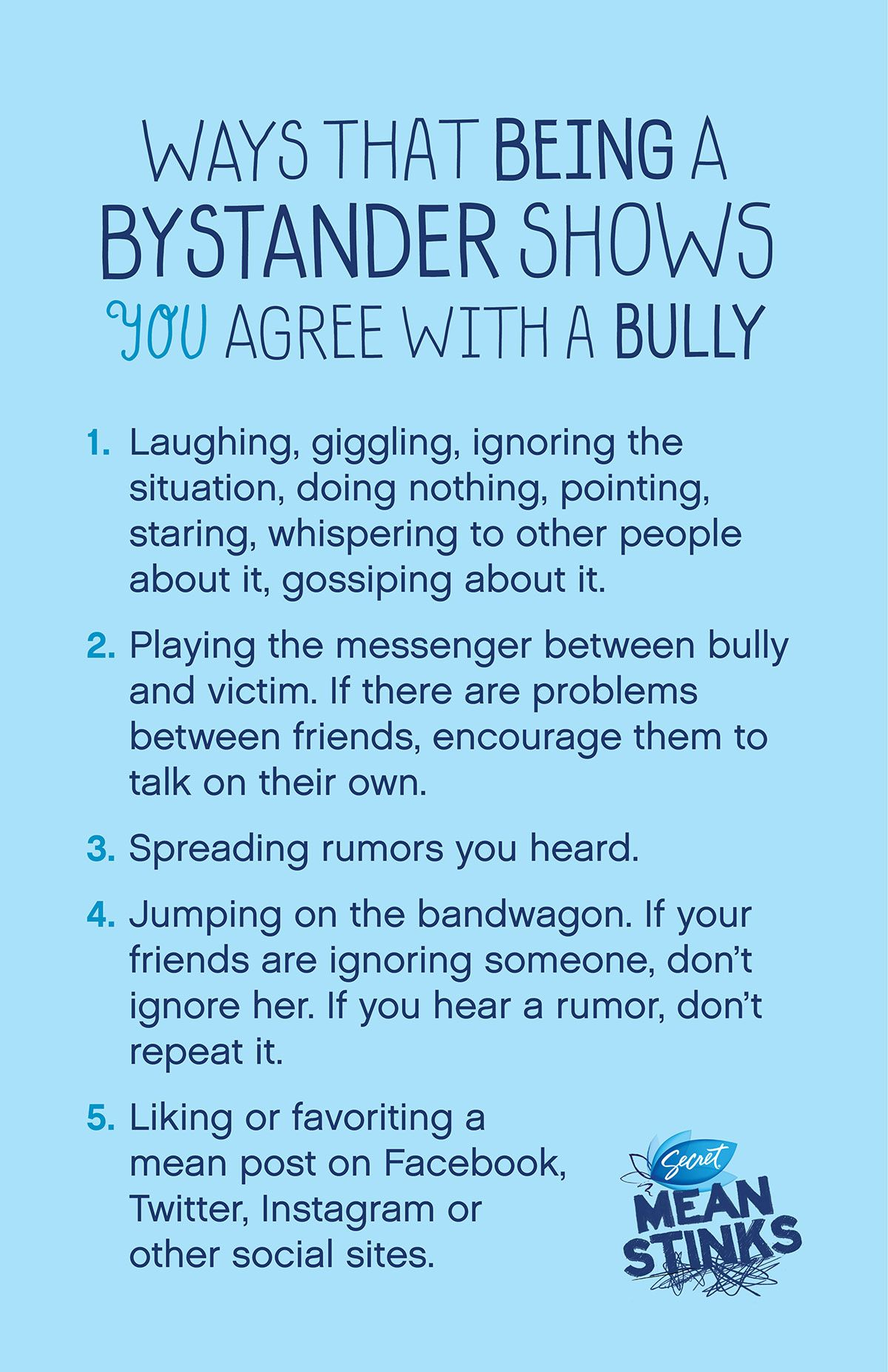 Ways that being a bystander shows you agree with a bully encourage ways that being a bystander shows you agree with a bully encourage kids to speak up for bullying targets not to be a bystander fandeluxe Images