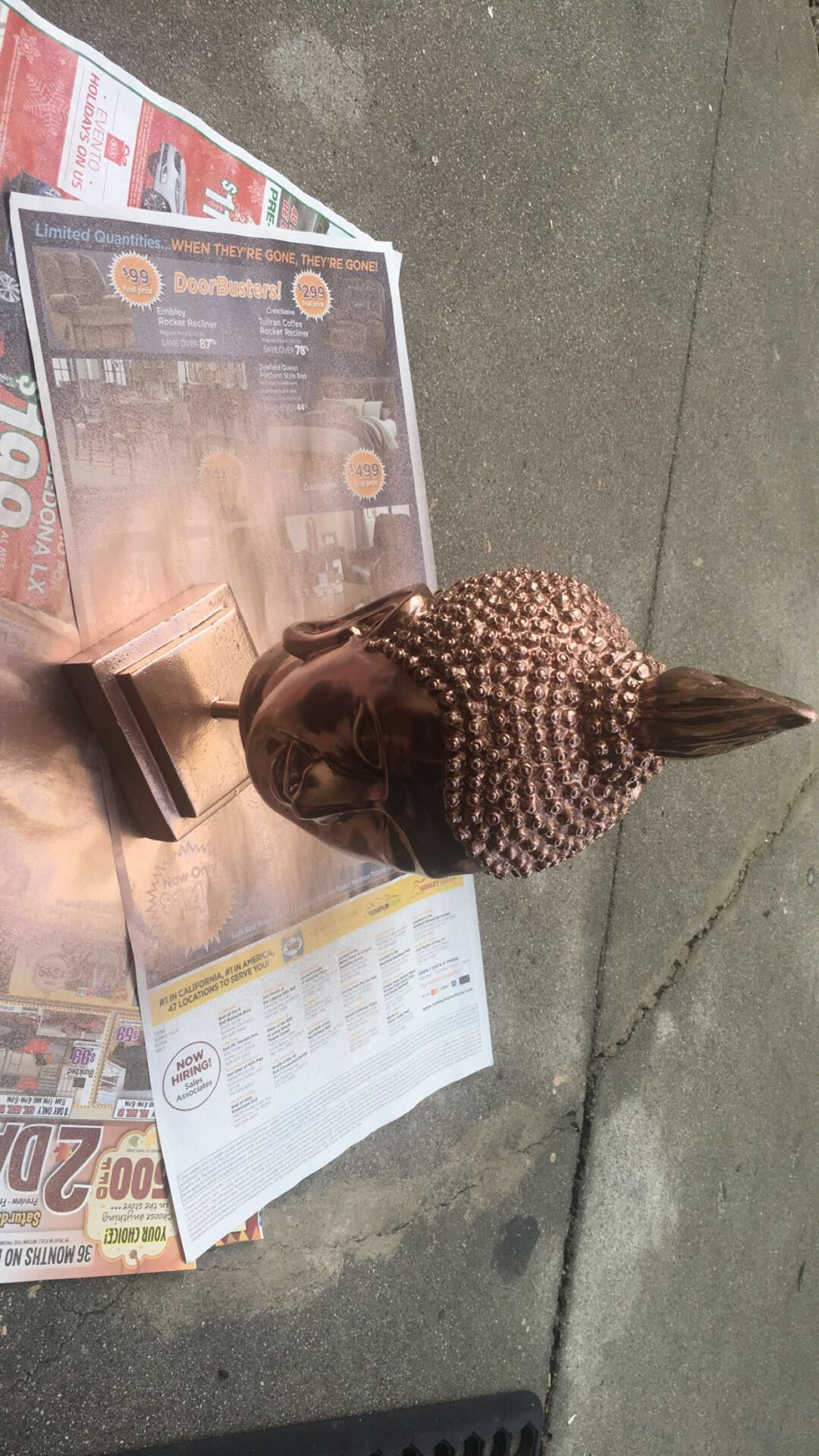 I decided to spray paint my old African head and bring it back to life.