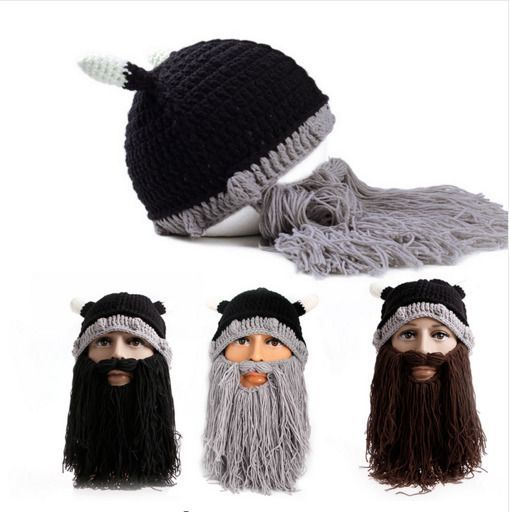 3d2a2ec048d (eBay link) Viking Beanie Beard Ski Cap Winter hat cosplay costum  fashion   clothing  shoes  accessories  mensaccessories  hats  ad