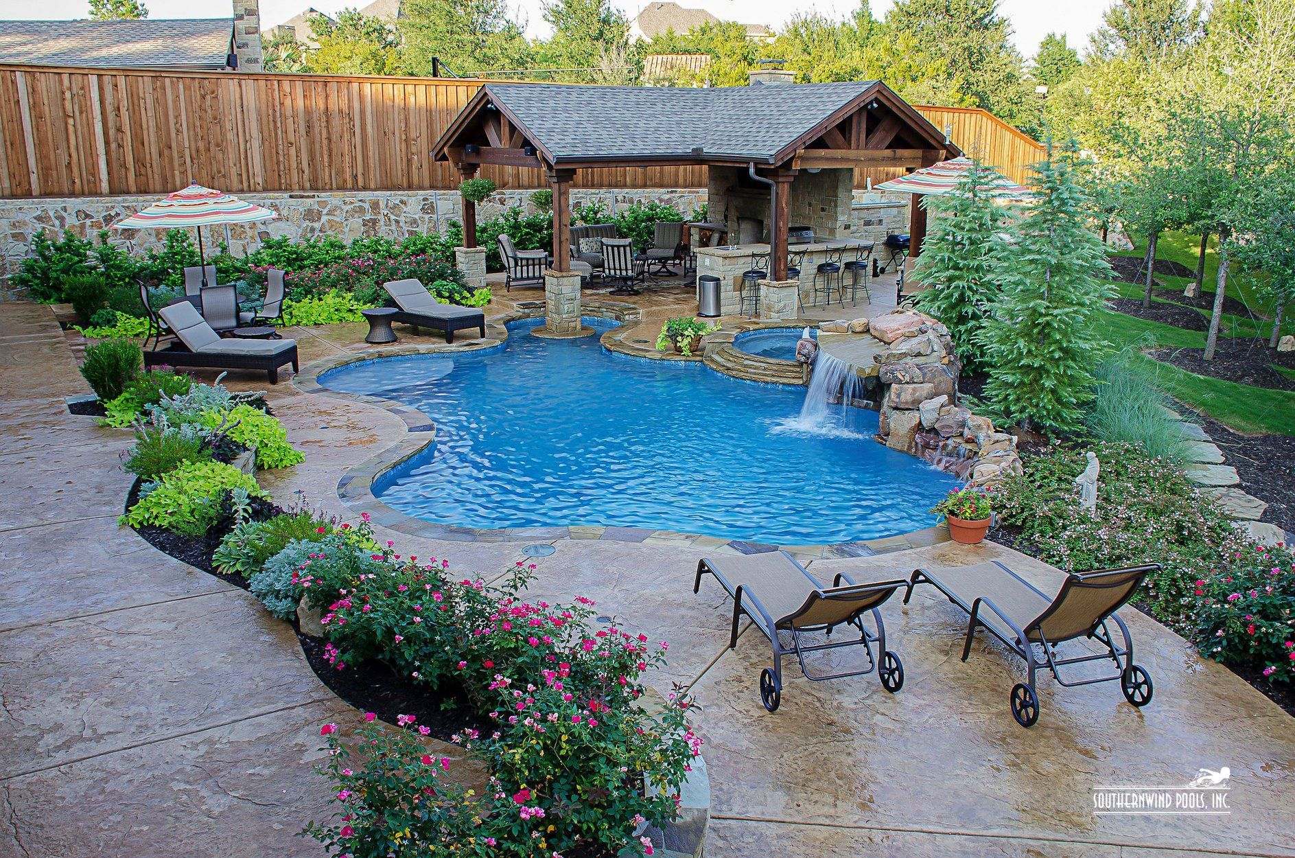 Natural Freeform Pool #169 By Southernwind Pools Pool Landscapingbackyard Poolspool