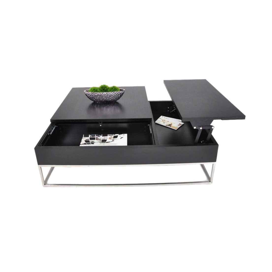 This Coffee Table Opens Up To Reveal Two Storage Spaces To Stash And Sort Your Day 39 S Work