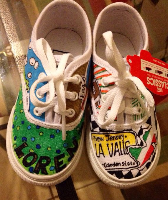3b3ce9722dd452 Customized Vans made especially for Snooki (Nicole Polizzi) toddler  Lorenzo! His little feet are going to show everyone who he is! Jersey Style   )