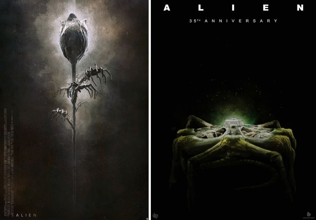 These alien 35th anniversary posters are gorgeous and gruesome
