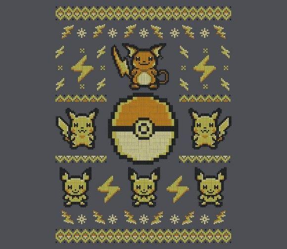 Pokemon Pikachu Ugly Christmas Sweater   Ugly Christmas Sweaters ...