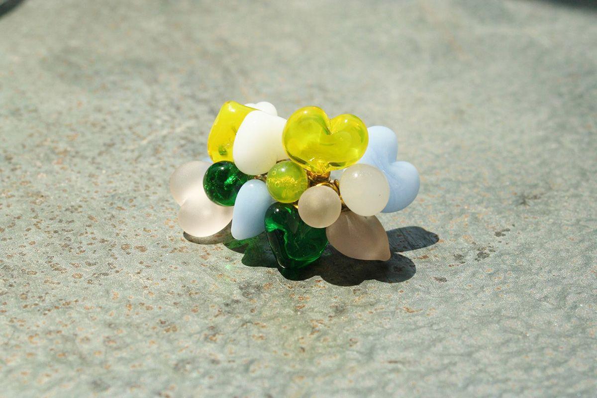 Vetro di Murano e perle naturali Una dolce dichiarazione d'amore