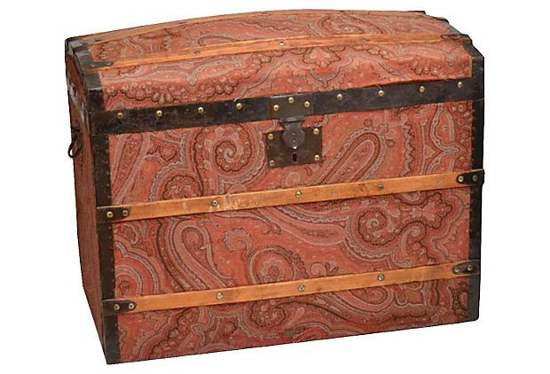 What a fantastic and beautiful find. Perfect for your treasure! On sale now!!! 19th C. French Paisley Trunk on OneKingsLane.com
