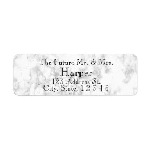 Sophisticated White Stone Wedding Return Labels Return labels