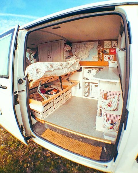 Photo of A peek into how she maximizes storage space. #Follow #Instagram #Photo #van life…