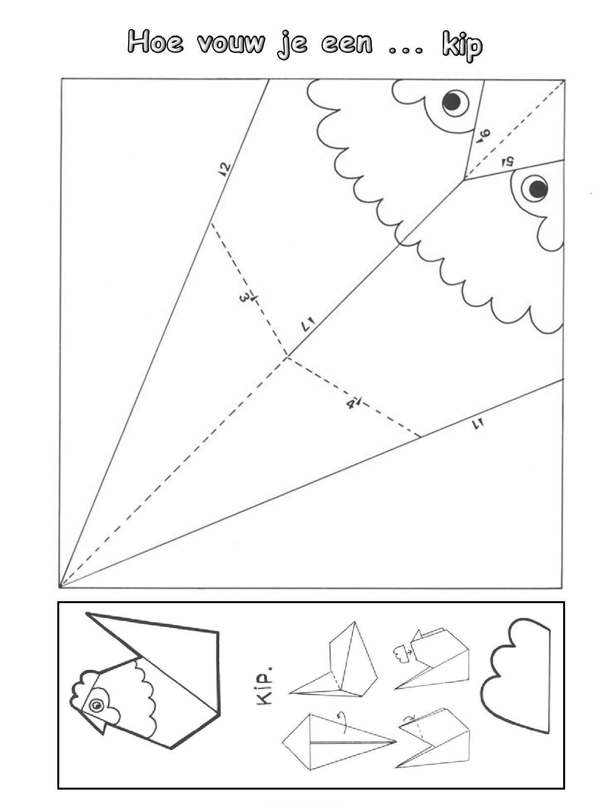 Hoe Vouw Je Een Kip Art N Craft Diy Christmas Cards Origami