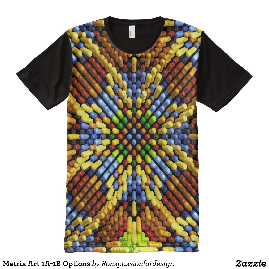Matrix Art 1a 1b Options All Over Print Shirt