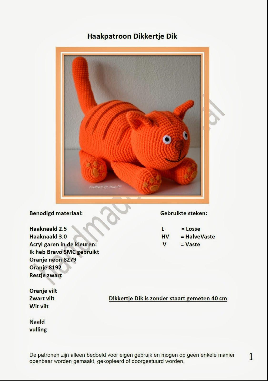 Haakpatroon Dikkertje Dik Haakpatronen Pinterest Crochet