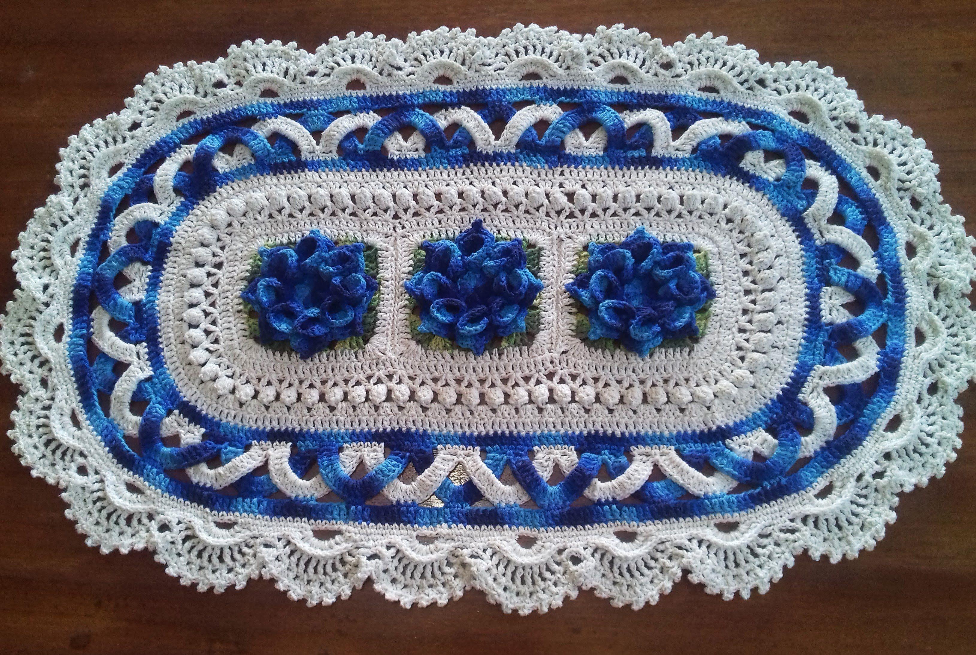 Tapete Oval Jordana (1 Parte ) | video crocht | Pinterest | Häckeln ...