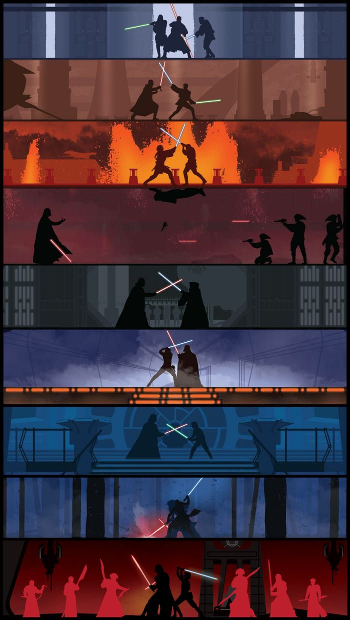 Lightsaber Battles The Last Jedi Version 2 For Those Who Requested Kylo Star Wars Poster De Star Wars Imagens Star Wars