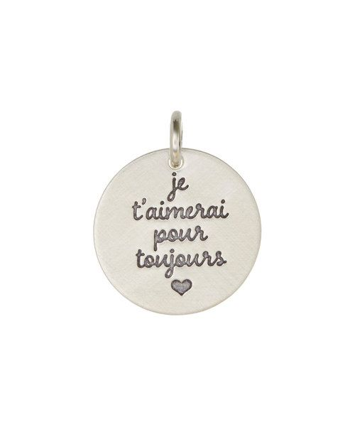 Look at this Sterling Silver 'French I'll Love You Forever' Charm on #zulily today!