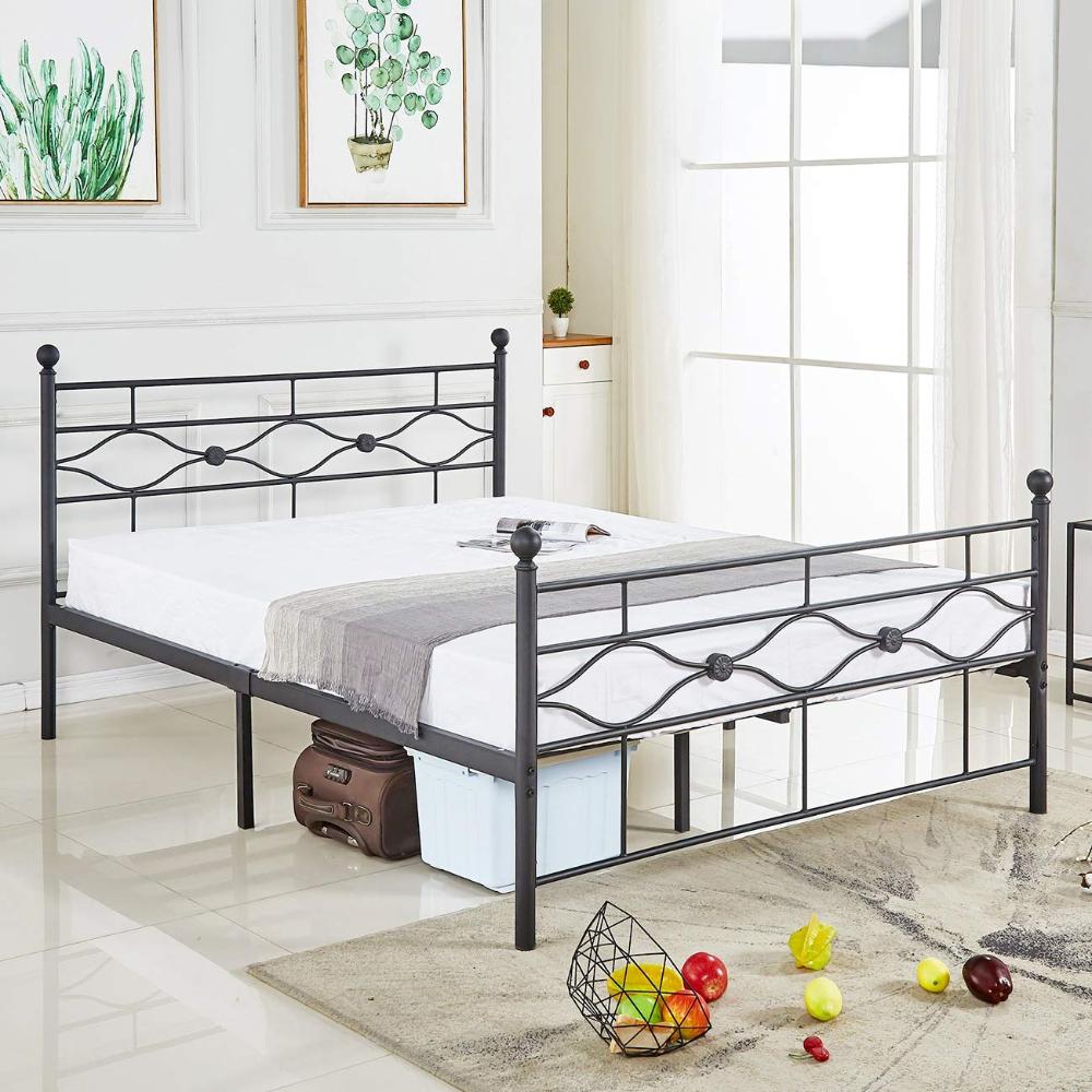 AmazonSmile DIKAPA Queen Size Bed Frame, Metal Platform