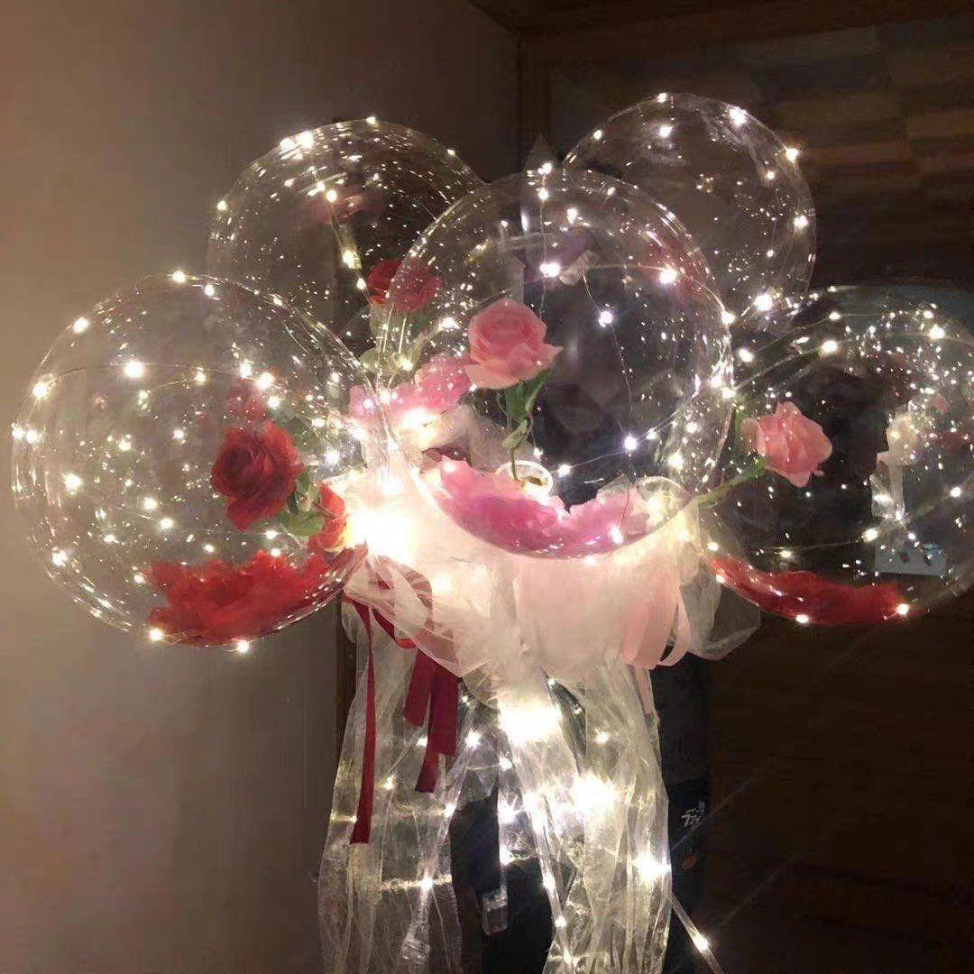 led balloon rose bouquet led balloons