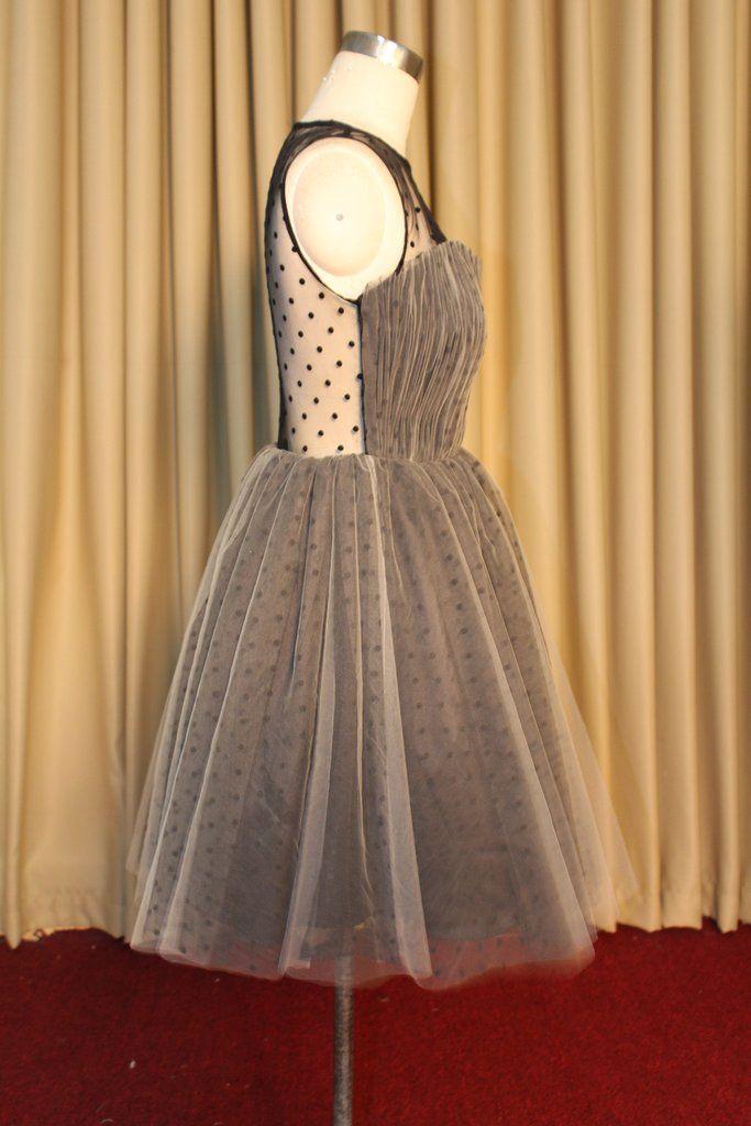 Black Dots Homecoming Dress Prom Dress Custom Made - Yalan Wedding Couture