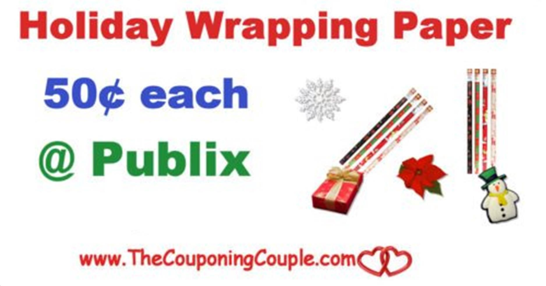 Holiday Wrapping Paper Only $0.50 Per Roll @ Publix | Store ads and ...