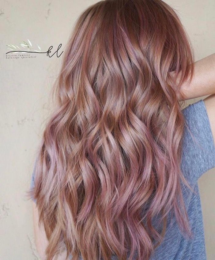 Pink Highlights In Strawberry Blonde Hair Red Hair Lowlights Red Blonde Pink Undertones Hair Hair Color Ha Colored Hair Tips Pink Hair Highlights Balayage Hair
