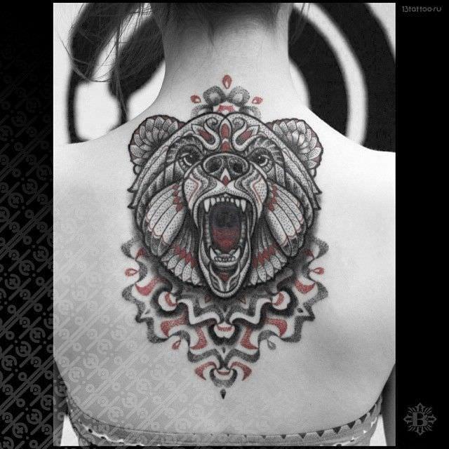 tatouage mandala ours   tattoo   tatouage, tatouage ours et tatouage