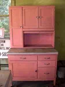 """Pink Cabinet...this is like my grandma's cabinet i have but it's not """"pink"""" yet!"""