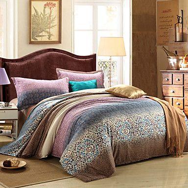 cloverlove 100% coton de quatre pièces costume fp002, sac de couchage: 200 * 230cm, drap de lit: 230 * 250cm, taie d'oreiller: 48 * 74cm - EUR € 43.99