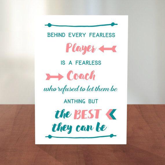 Coach Thank You Card Basketball Coach Soccer Coach  Gift Ideas