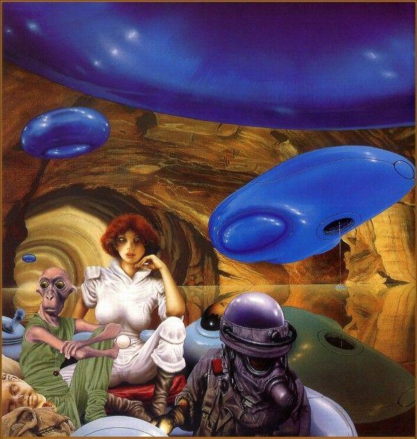 Vintage Sci Fi Illustrations Retro Science Fiction: Sci-fi Illustrations By Jim Burns