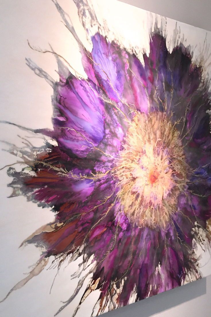 Encaustic Blumenmalerei erstellt von Alicia Tormey