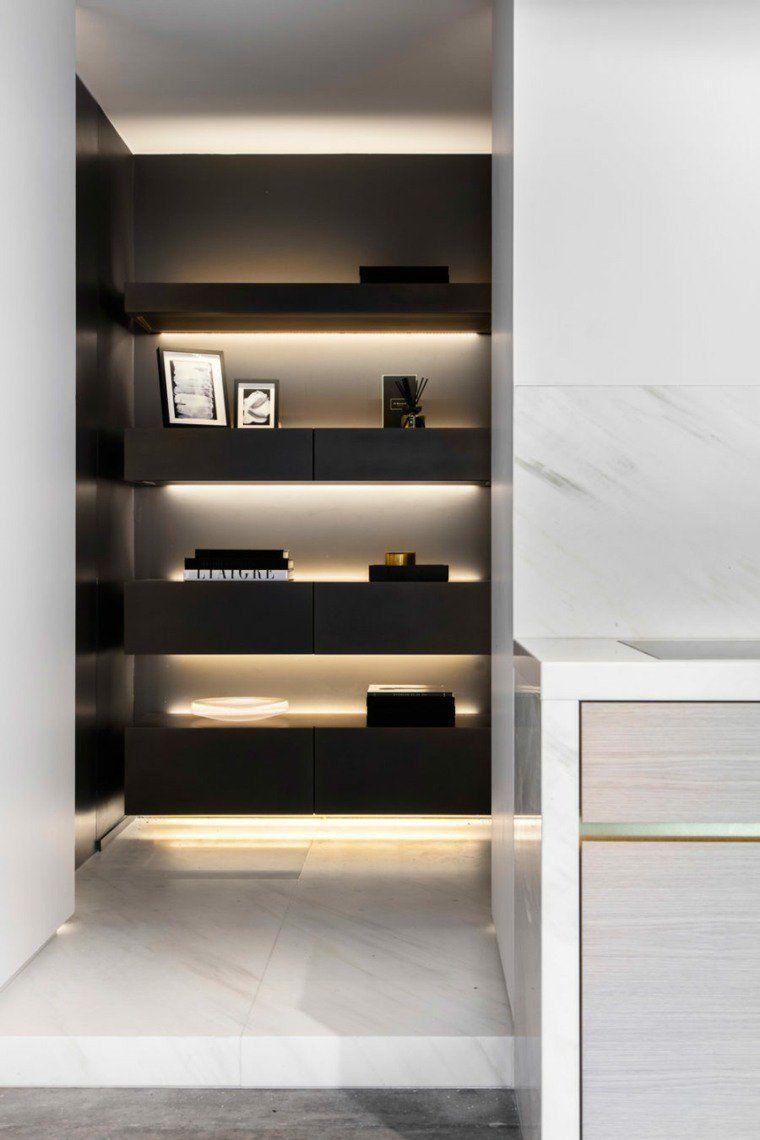 ruban led pour tag re bureau en 2018 pinterest clairage int rieur maison et led. Black Bedroom Furniture Sets. Home Design Ideas