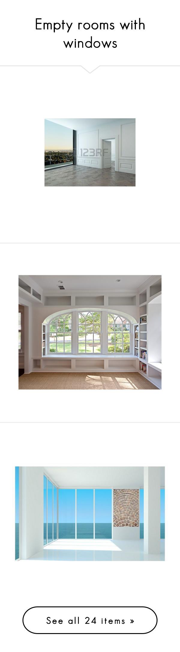 Home interior design windows empty rooms with windows