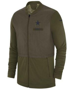 Nike Men s Dallas Cowboys Nike Salute To Service Elite Hybrid Jacket -  Green 3XL 9684ff197
