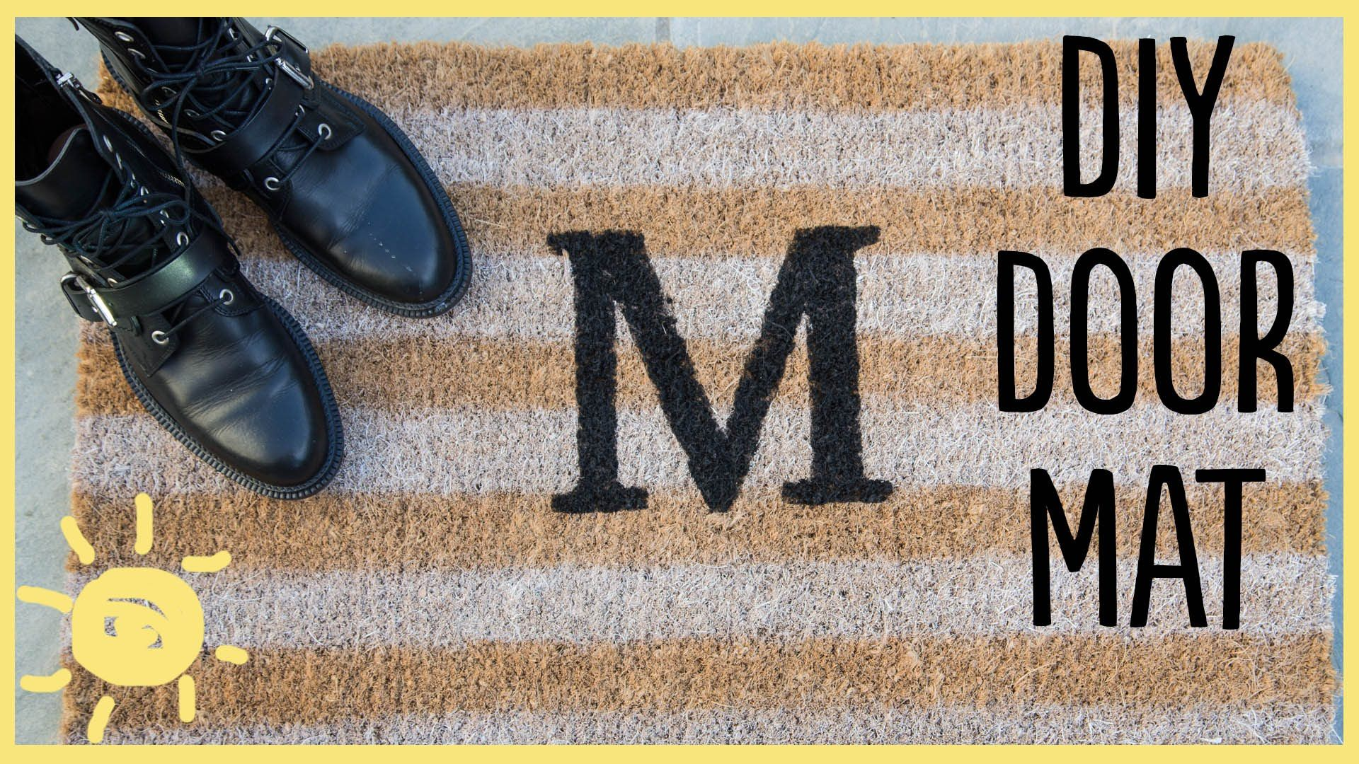 Make your own beautiful personalized door mat...it's easy and inexpensive! Don't forget to sub for new videos every M-W-F http://bit.ly/sub2moms Supplies: Do...
