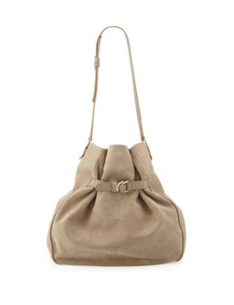 SEE BY CHLOE Augusta Leather & Suede Hobo Bag