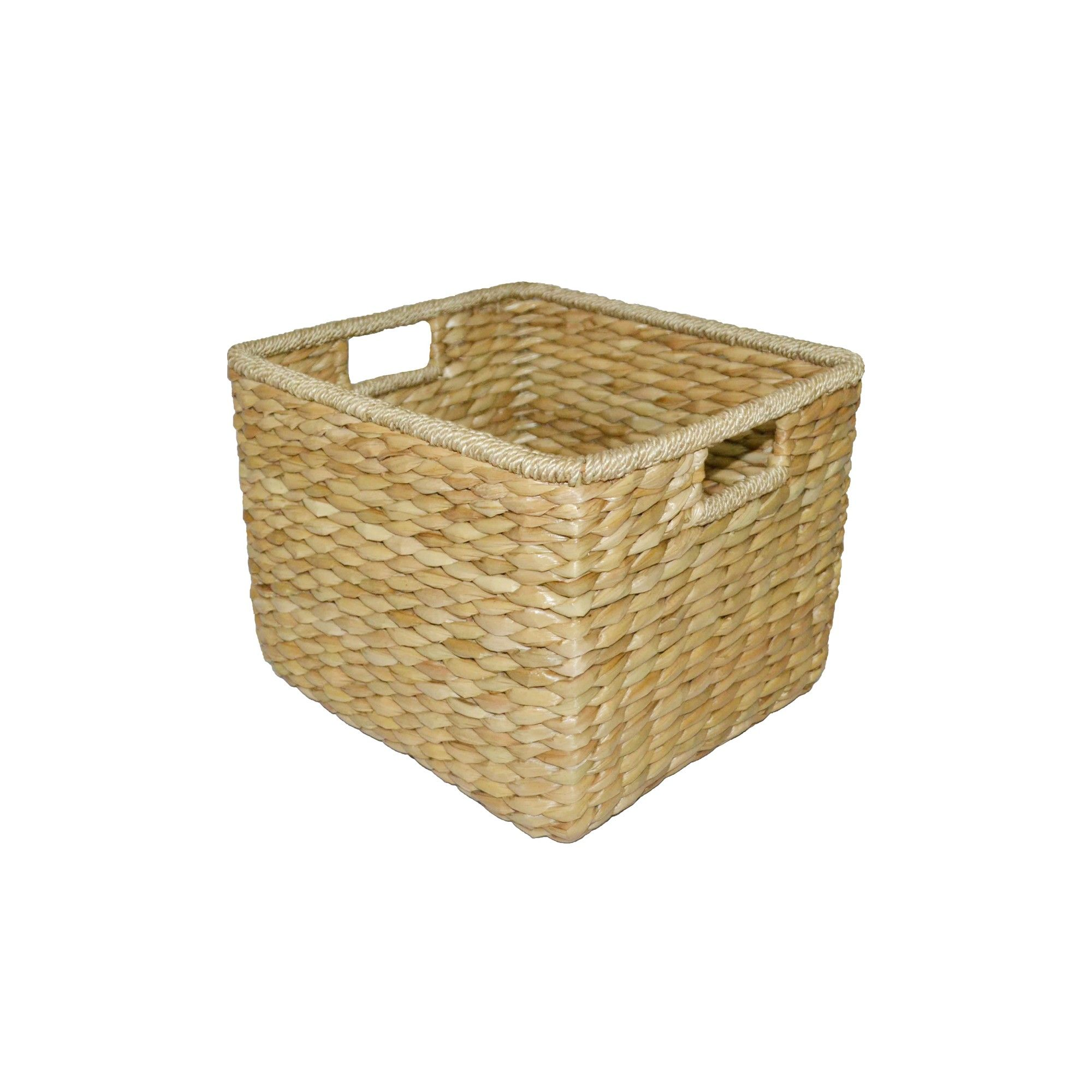 Aseana Large Milk Crate Natural 11 X13 5 Threshold Beige Milk Crates Cube Storage Crates