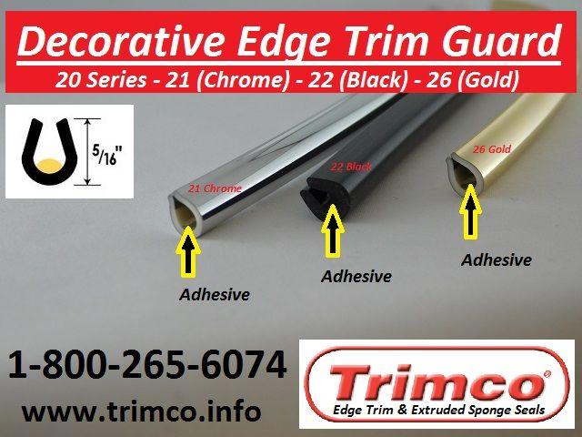 20 Series Decorative Edge Trim Guard Edge Guard Plastic Trim Edges