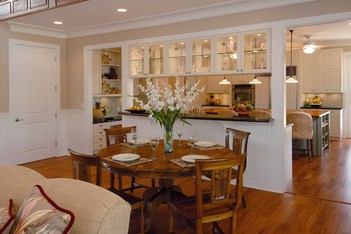 Traditional Kitchen Dining Living Room Combo