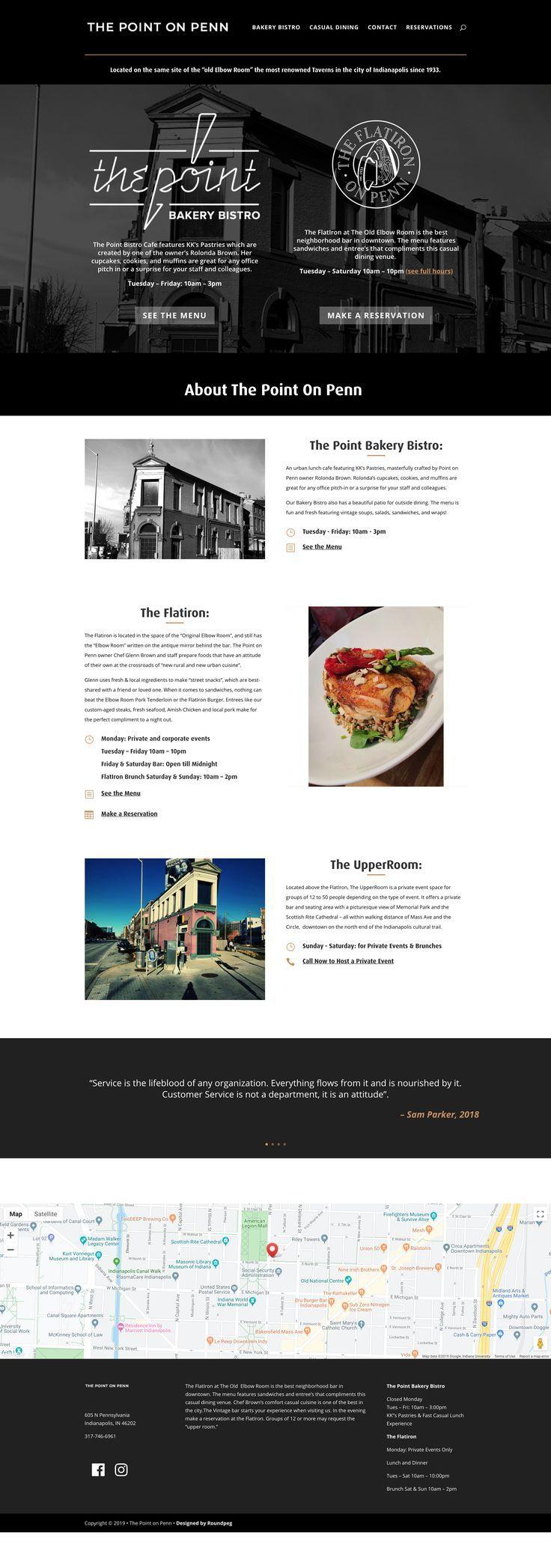 The Point On Penn Logo Design Web Design Example Roundpeg Web Design Examples Web Design Small Business Web Design
