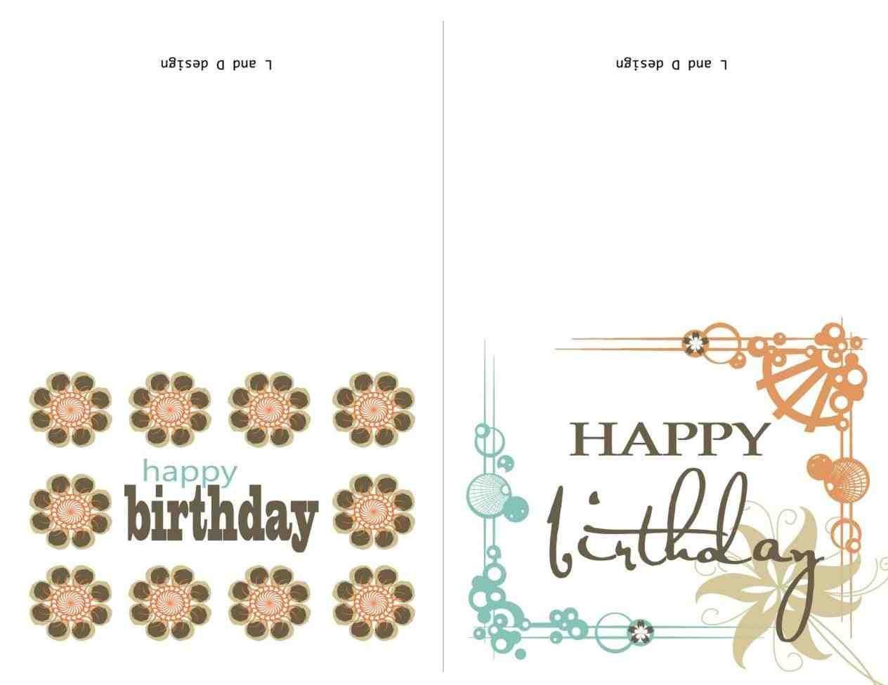 happy birthday cards for a elegant birthday card design