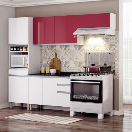 Cozinha Clarice Itatiaia Em Aco 4 Pecas Com Nicho Para Forno